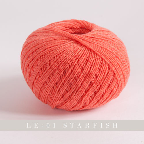 Yarntelier Cashmere Lace #LE 01 starfish 50g